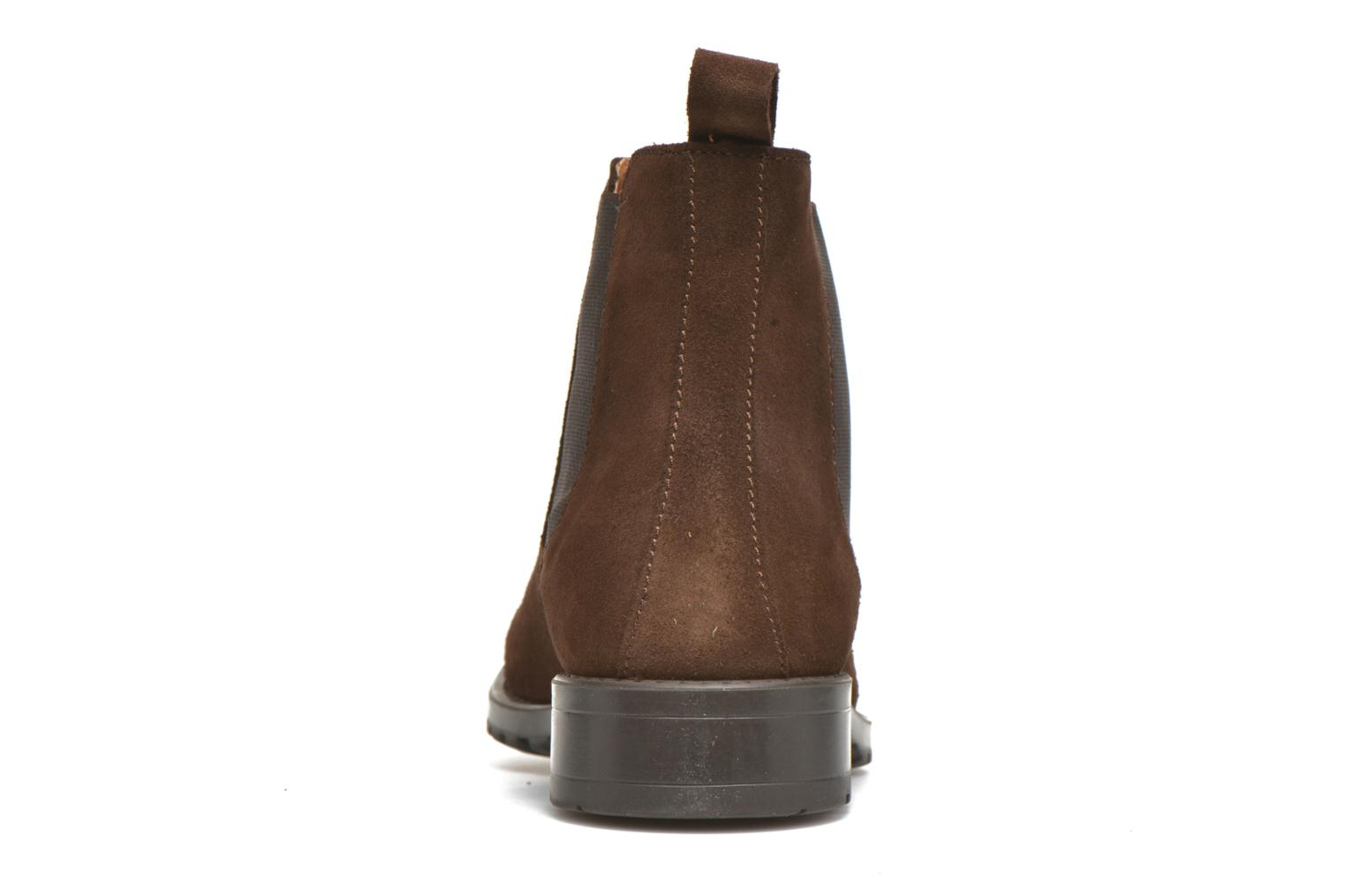 Ankle boots Marvin&co Ahsford Brown view from the right