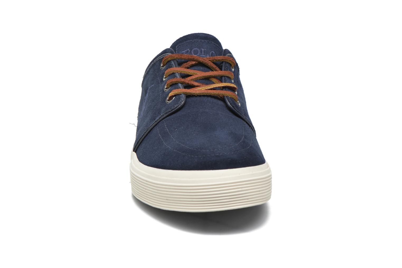 Baskets Polo Ralph Lauren Faxon Bleu vue portées chaussures