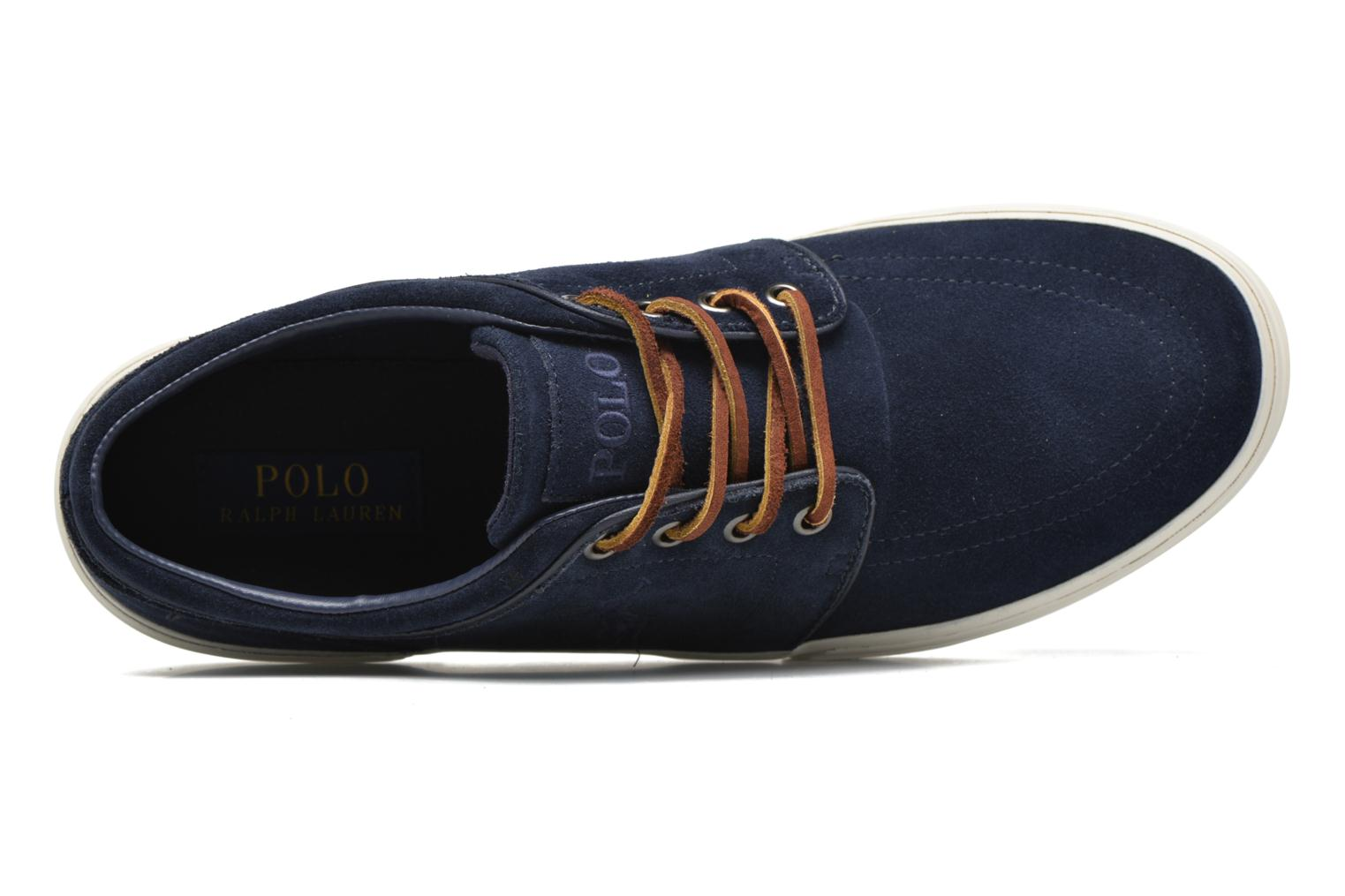 Trainers Polo Ralph Lauren Faxon Blue view from the left