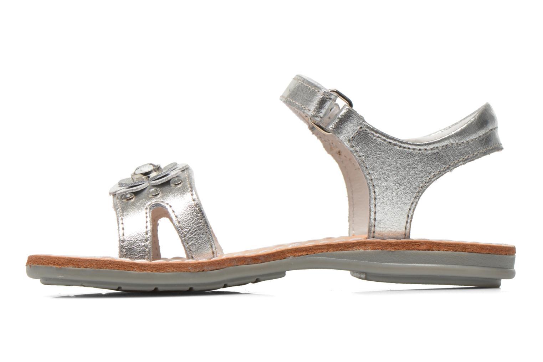 Sandales et nu-pieds Minibel Xara Argent vue face