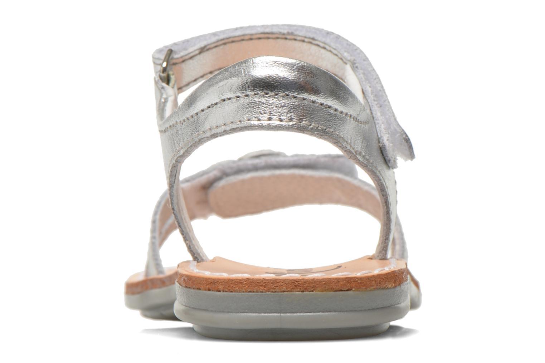 Sandales et nu-pieds Minibel Xara Argent vue droite