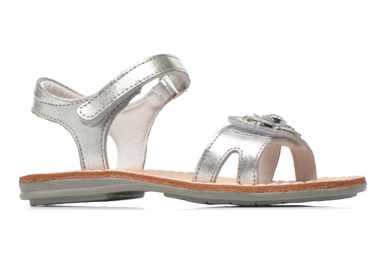 Sandales et nu-pieds Minibel Xara Argent vue derrière
