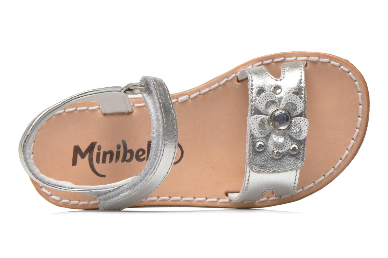 Sandales et nu-pieds Minibel Xara Argent vue gauche