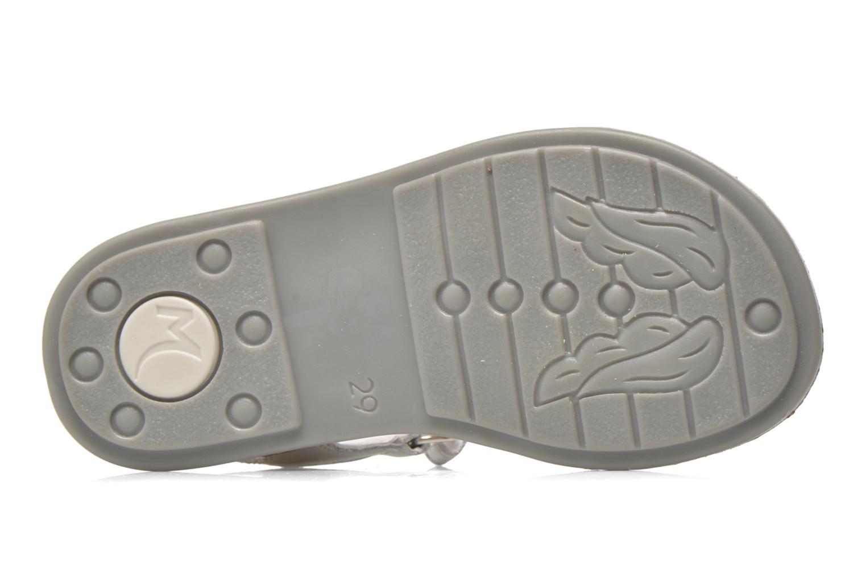 Sandales et nu-pieds Minibel Xara Argent vue haut