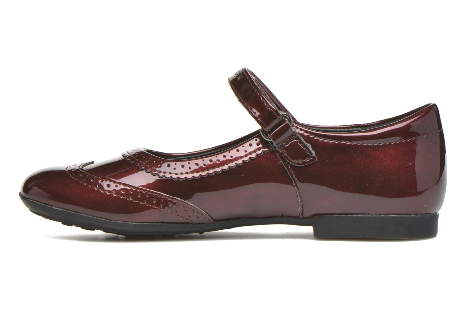 Ballerines Geox JR Plie' J5455F Bordeaux vue face