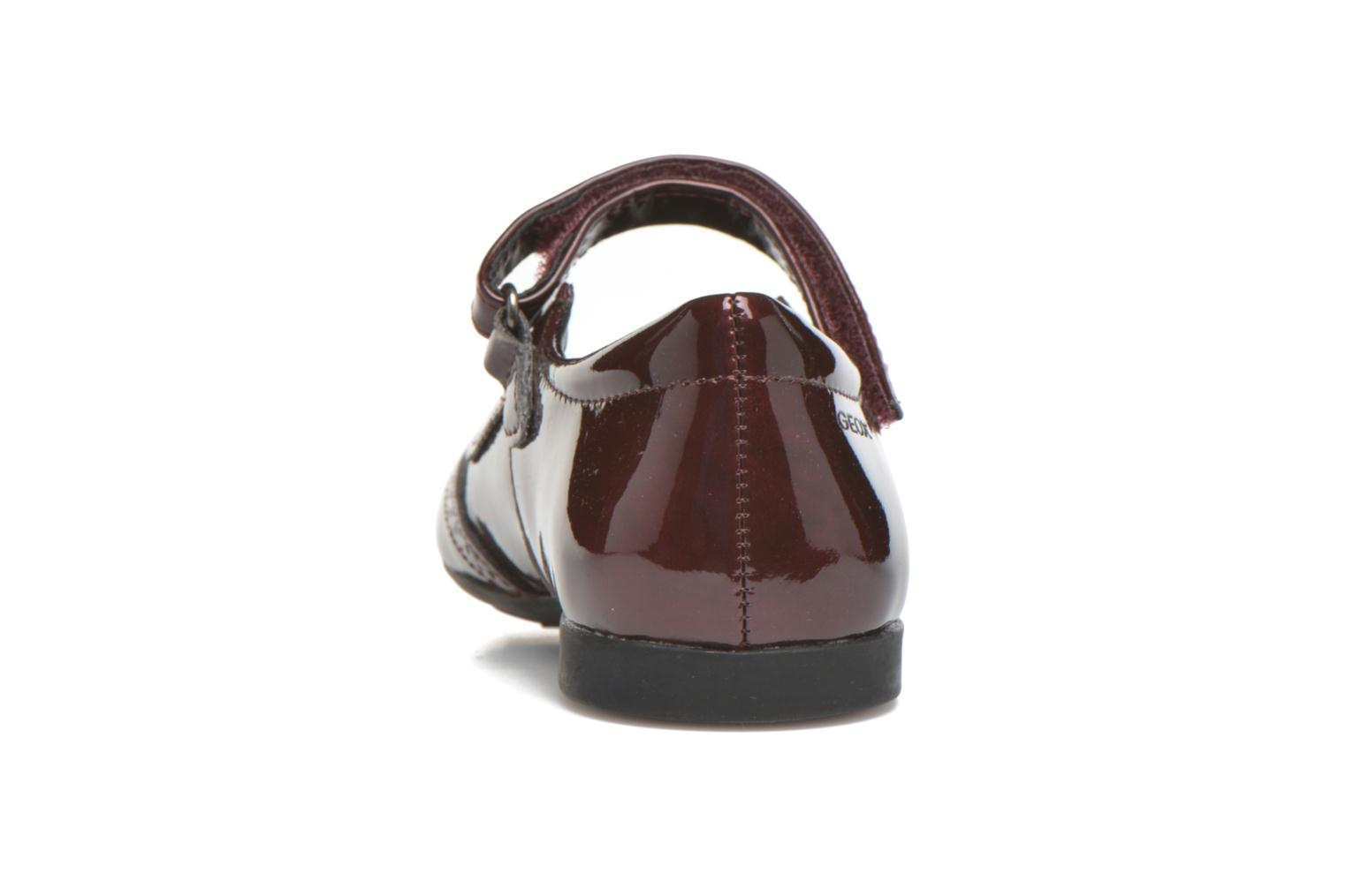 Ballet pumps Geox JR Plie' J5455F Burgundy view from the right