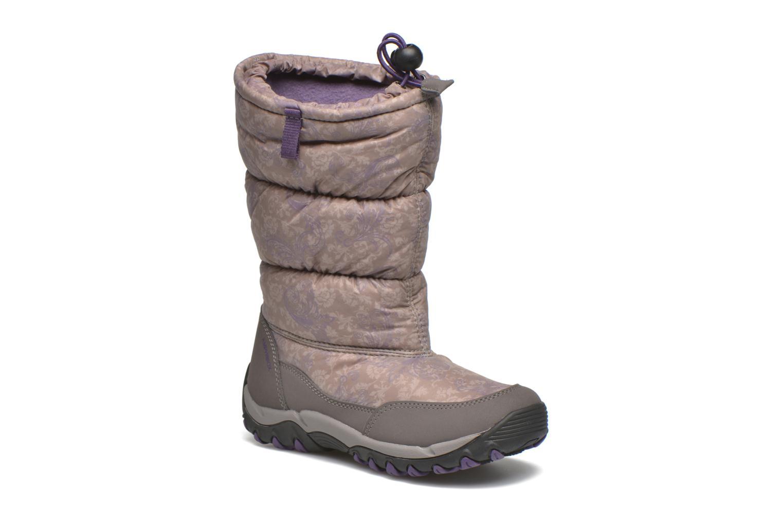 Bottines et boots Geox J Alaska B Girl ABX J5406H Gris vue détail/paire