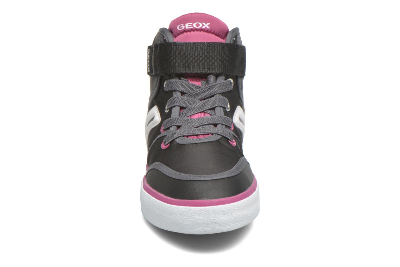 Baskets Geox JR Ciak Girl J5404A Noir vue portées chaussures