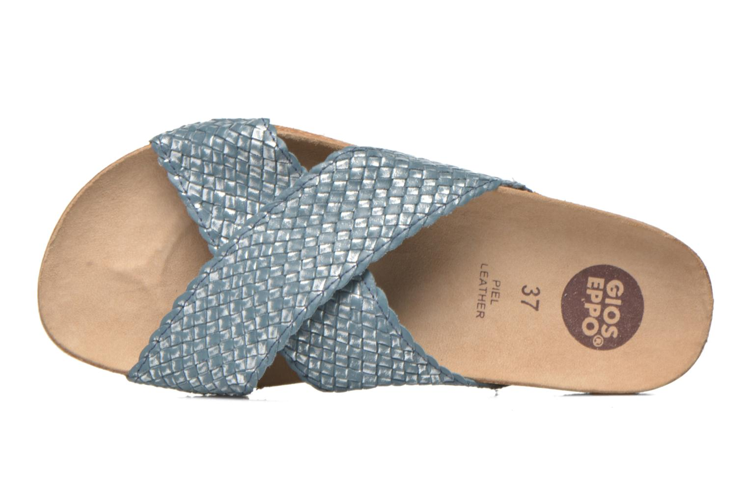 Wedges Gioseppo Alejandrina Blauw links
