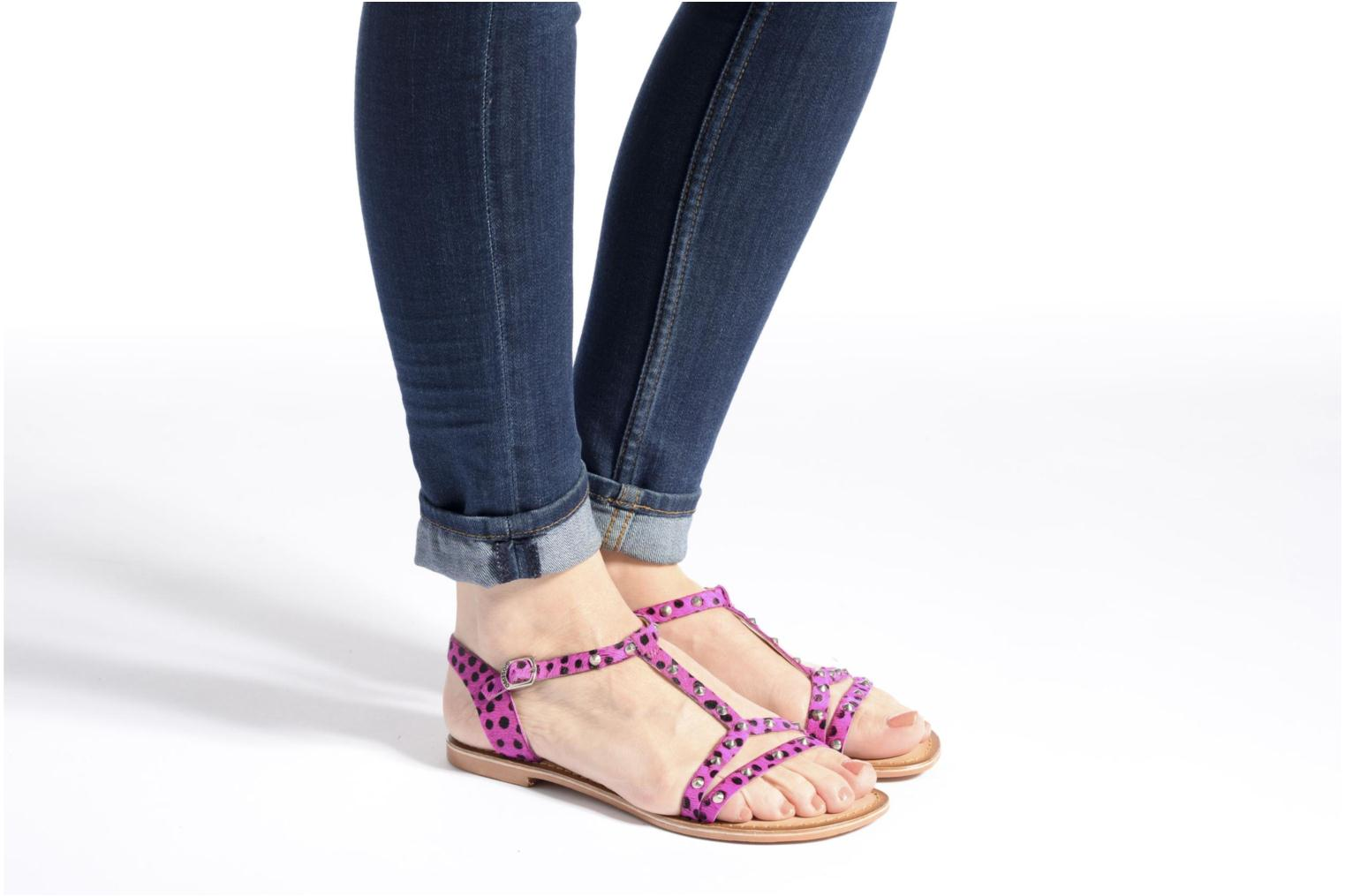 Sandals Gioseppo Drupa Pink view from underneath / model view