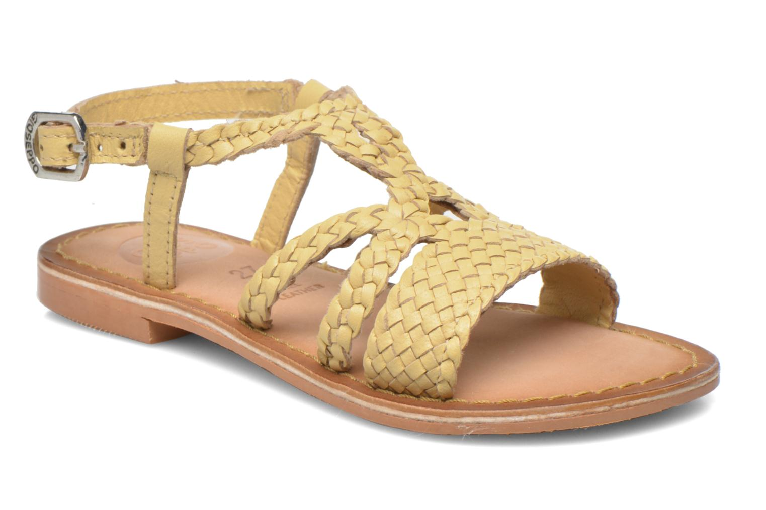 Sandals Gioseppo Jacinthe Beige detailed view/ Pair view