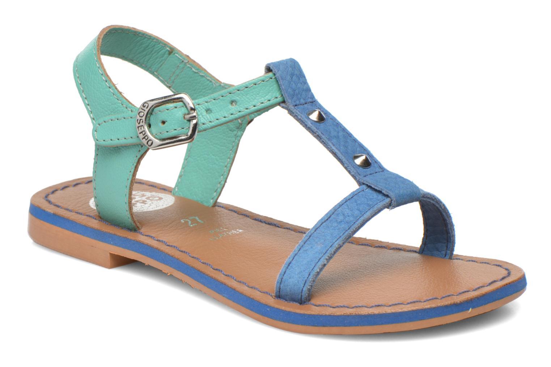 Sandaler Gioseppo Rose Blå detaljeret billede af skoene