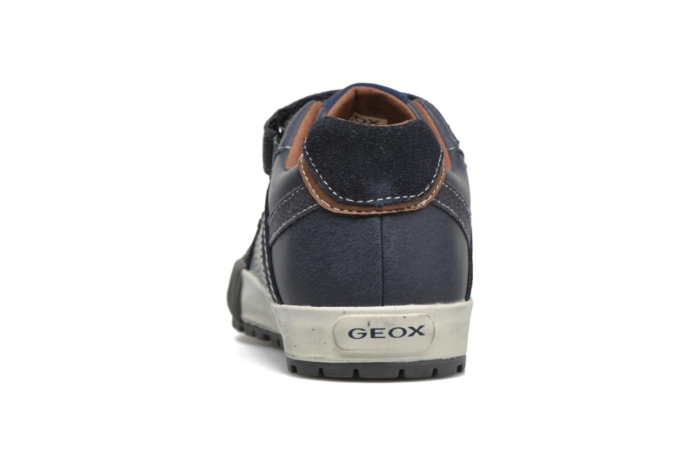 Sneaker Geox JR Mythos J54L4B blau ansicht von rechts
