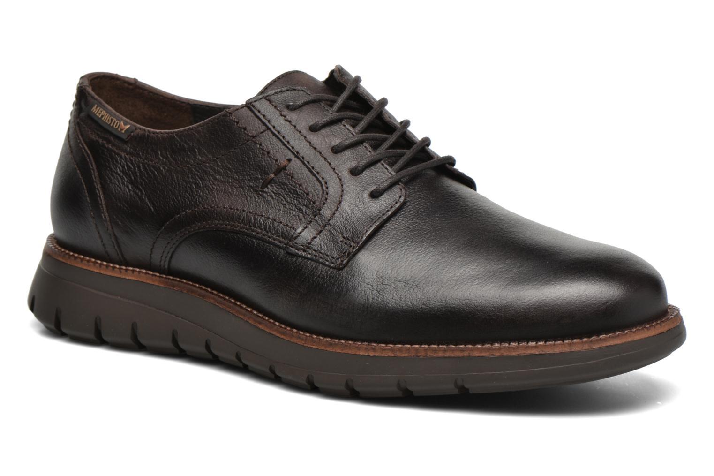 Chaussures à lacets Mephisto Brett Marron vue détail/paire
