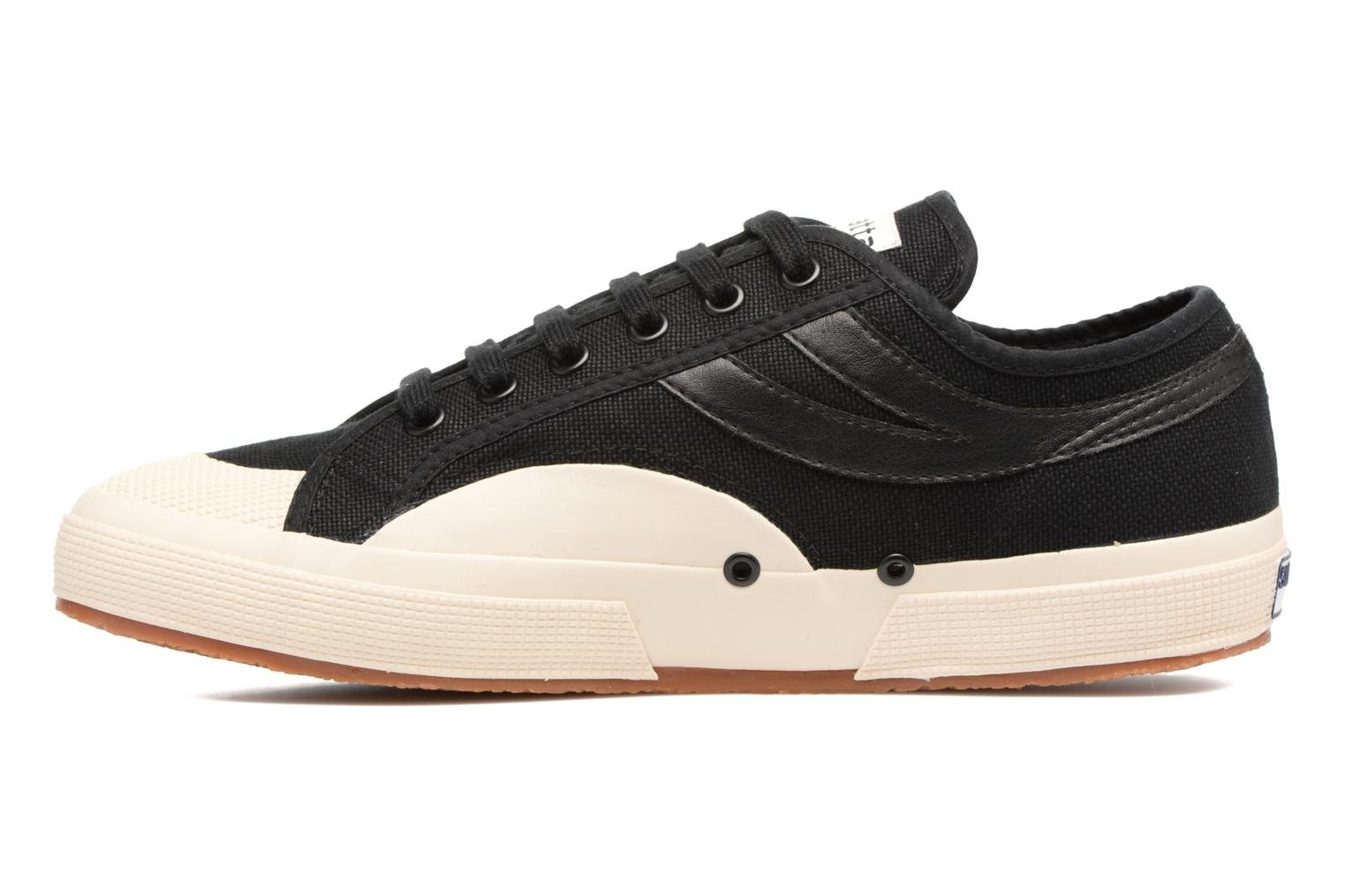 Baskets Superga 2750 Cotu Panatta Noir vue face