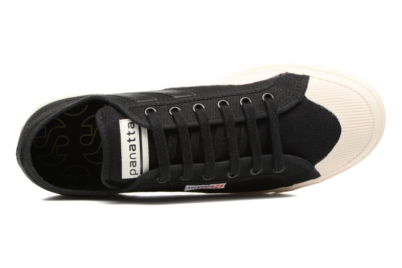 Sneaker Superga 2750 Cotu Panatta schwarz ansicht von links
