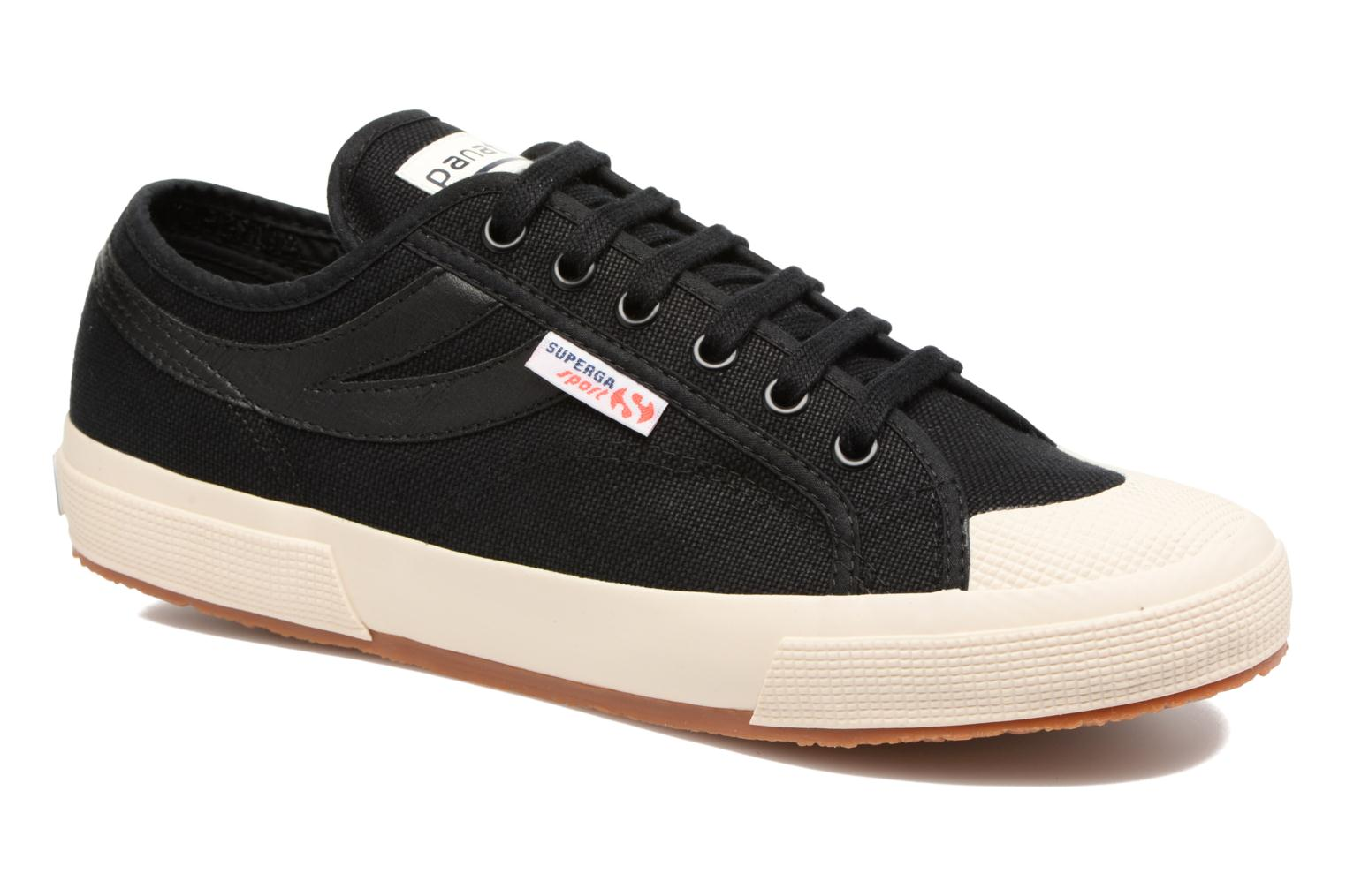 Trainers Superga 2750 Cotu Panatta Black detailed view/ Pair view