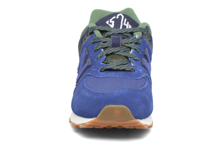 Baskets New Balance KL574 M Bleu vue portées chaussures