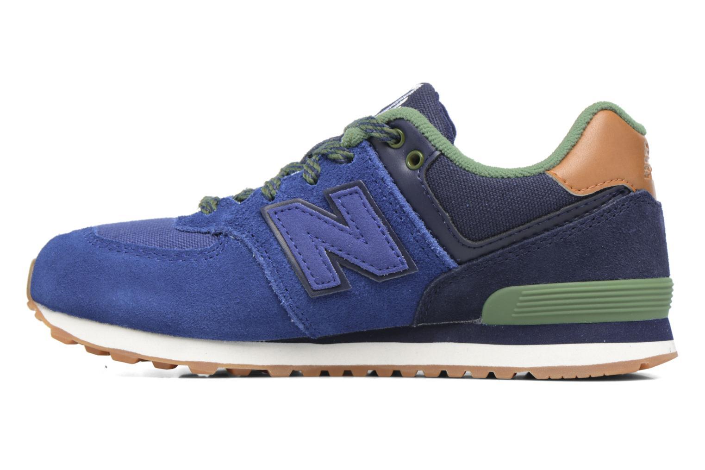 Sneaker New Balance KL574 M blau ansicht von vorne
