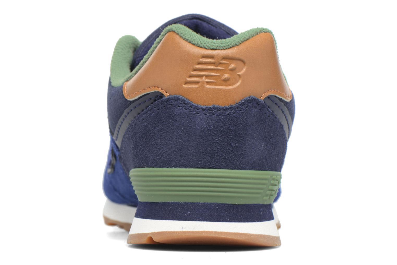 Baskets New Balance KL574 M Bleu vue droite