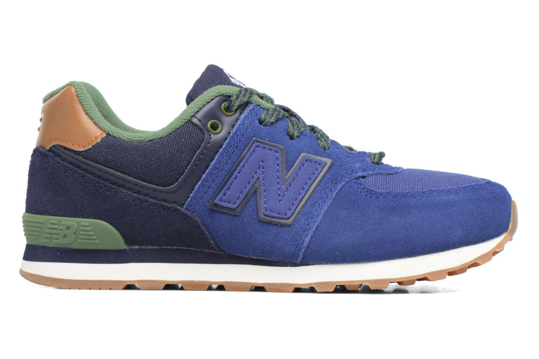 Sneaker New Balance KL574 M blau ansicht von hinten