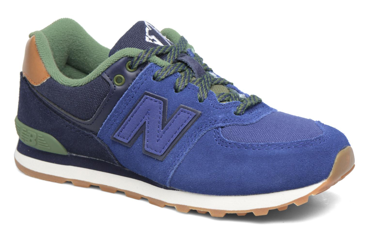 Trainers New Balance KL574 M Blue detailed view/ Pair view