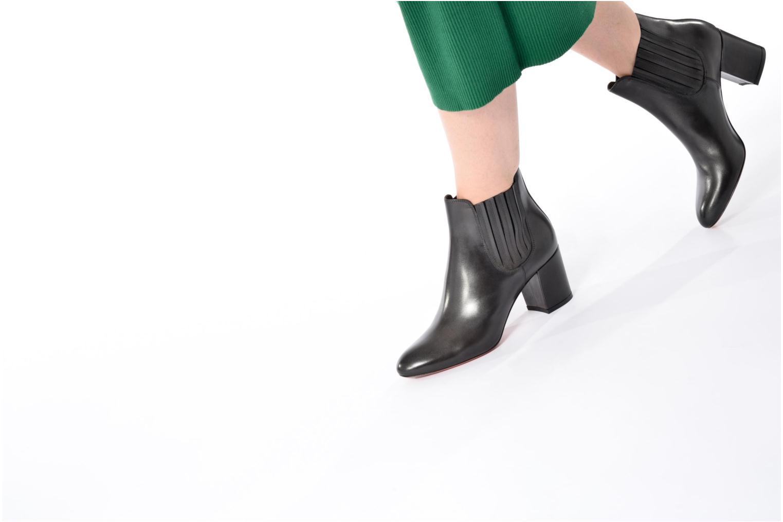 Bottines et boots Santoni Venus 55880 Gris vue bas / vue portée sac