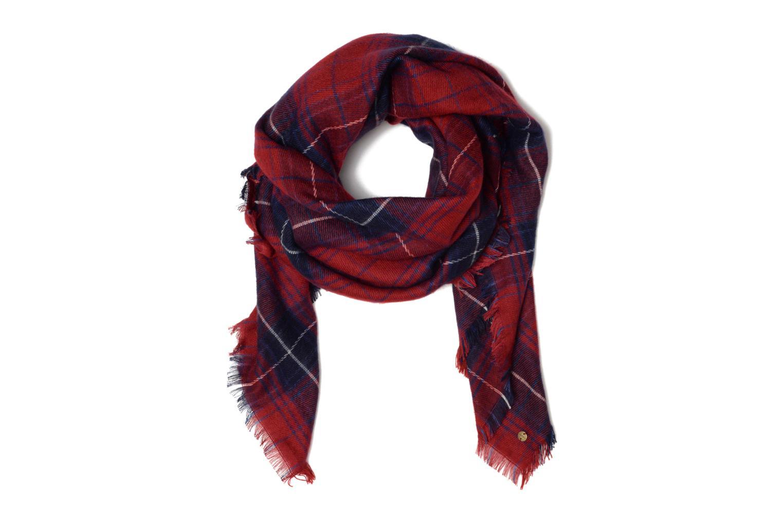 Echarpe carrée carreaux Dark Red