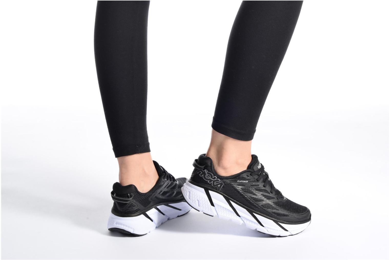 Chaussures de sport Hoka One One Clifton 3 W Rose vue bas / vue portée sac