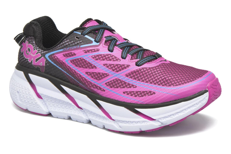 Chaussures de sport Hoka One One Clifton 3 W Rose vue détail/paire