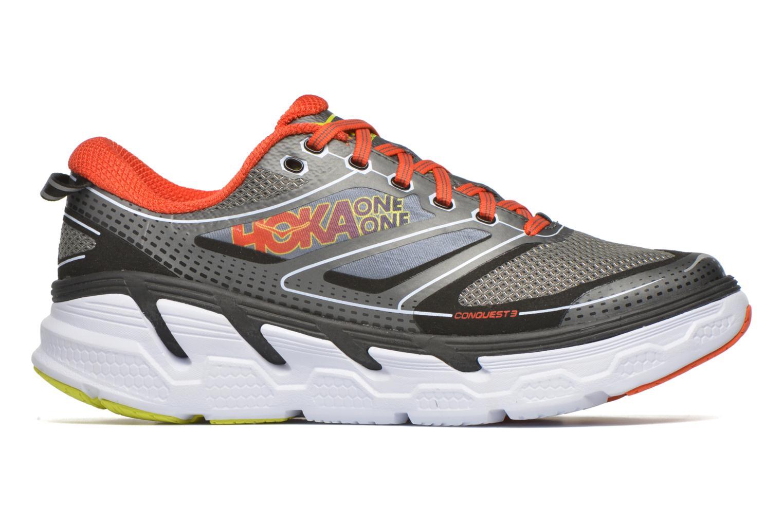 Chaussures de sport Hoka One One Conquest 3 Gris vue derrière