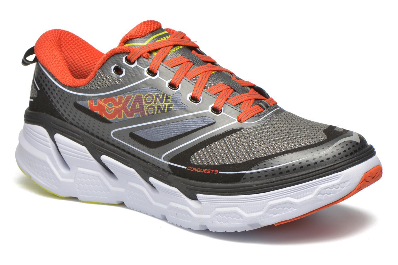 Chaussures de sport Hoka One One Conquest 3 Gris vue détail/paire