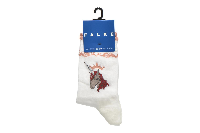Chaussettes et collants Falke Chaussettes Unicorn Blanc vue derrière