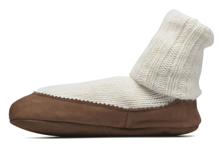 Chaussettes et collants Falke Chaussons-chaussettes Cottage Socke Blanc vue face