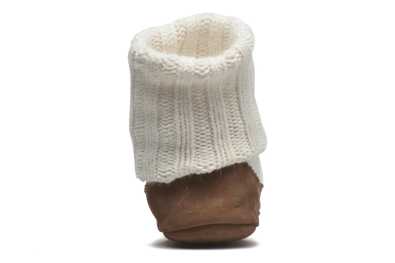 Chaussettes et collants Falke Chaussons-chaussettes Cottage Socke Blanc vue droite