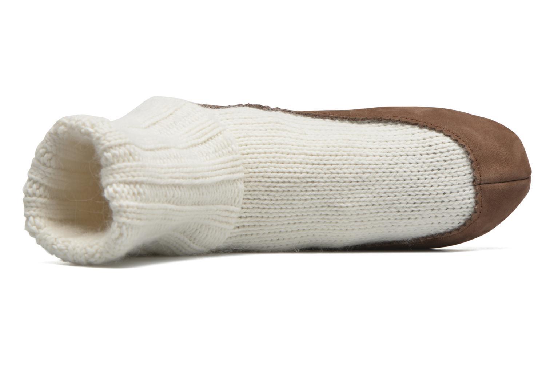 Socken & Strumpfhosen Falke Chaussons-chaussettes Cottage Socke weiß ansicht von links
