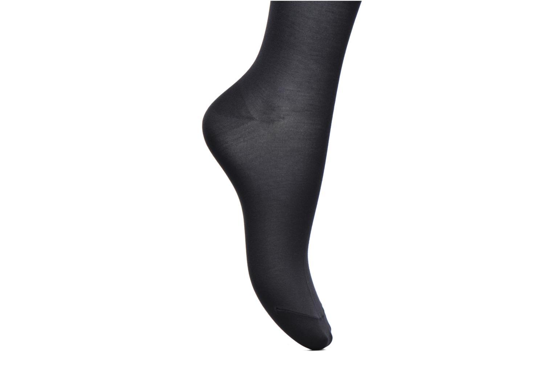 Socken & Strumpfhosen Falke Chaussettes hautes Cotton Touch blau ansicht von hinten