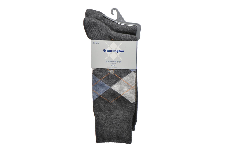 Chaussettes et collants Burlington Chaussettes E.day Mix Pack de 2 Gris vue derrière