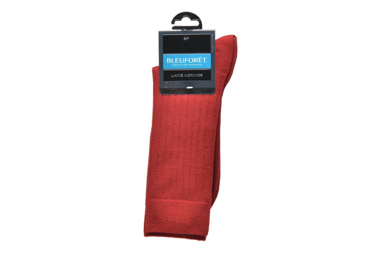 Chaussettes et collants BLEUFORÊT Chaussettes laine Mérinos Rouge vue derrière