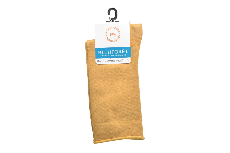 Chaussettes coton velouté Ocre-AN6