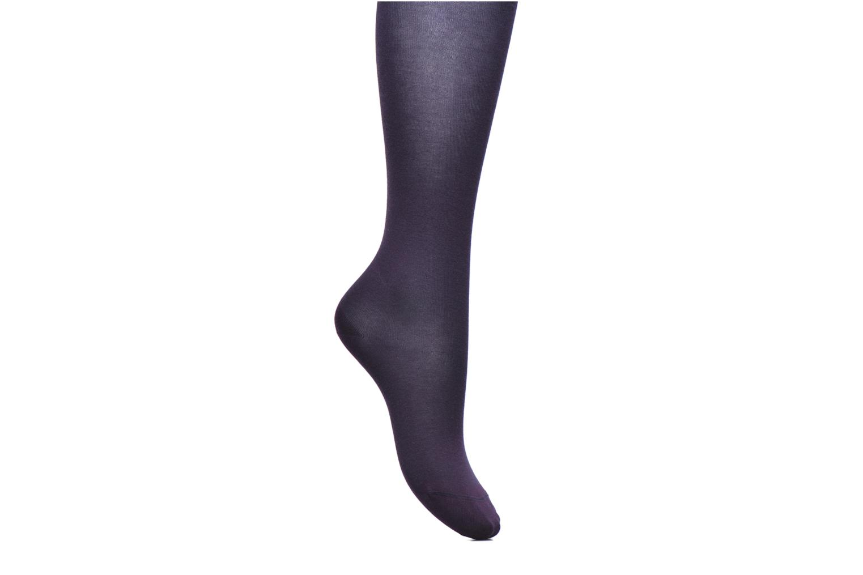Chaussettes et collants BLEUFORÊT Collant coton velouté Violet vue détail/paire