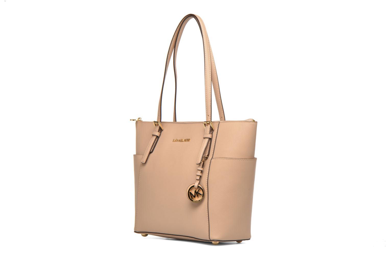 Handbags Michael Michael Kors JET SET ITEM EW TZ Tote Beige model view