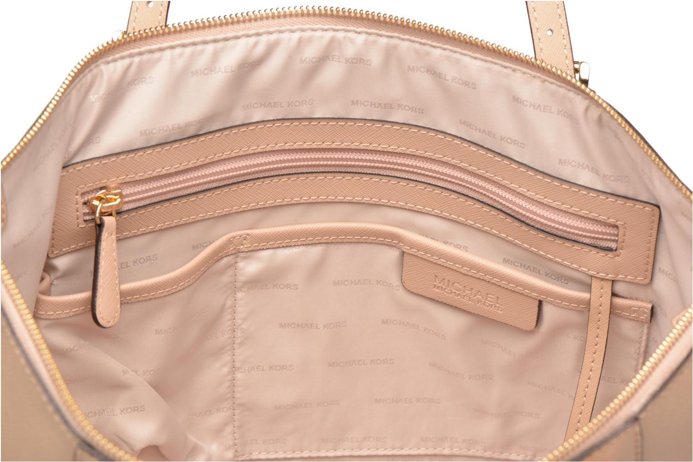 Handbags Michael Michael Kors JET SET ITEM EW TZ Tote Beige back view