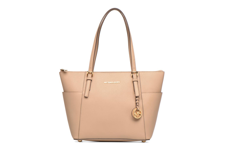 Handbags Michael Michael Kors JET SET ITEM EW TZ Tote Beige detailed view/ Pair view