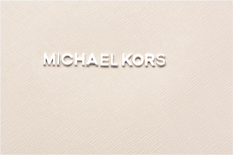 Handtaschen Michael Michael Kors JET SET ITEM EW TZ Tote grau ansicht von links
