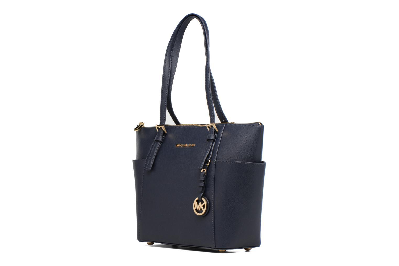 Handtaschen Michael Michael Kors JET SET ITEM EW TZ Tote blau schuhe getragen