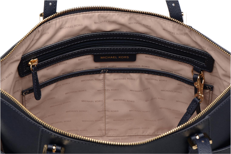 Handtaschen Michael Michael Kors JET SET ITEM EW TZ Tote blau ansicht von hinten