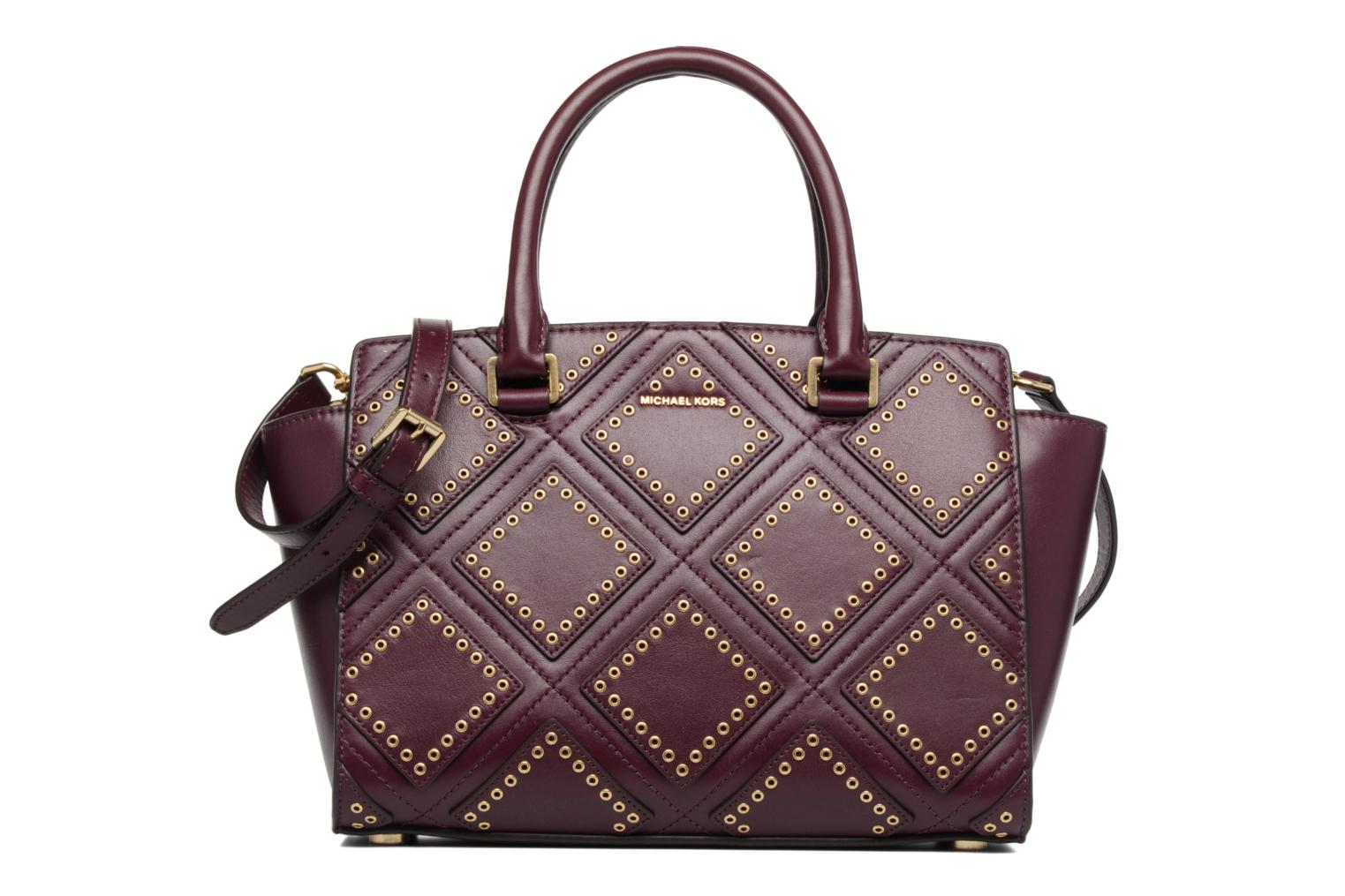SELMA MD TZ Satchel Diamond Grommet Plum