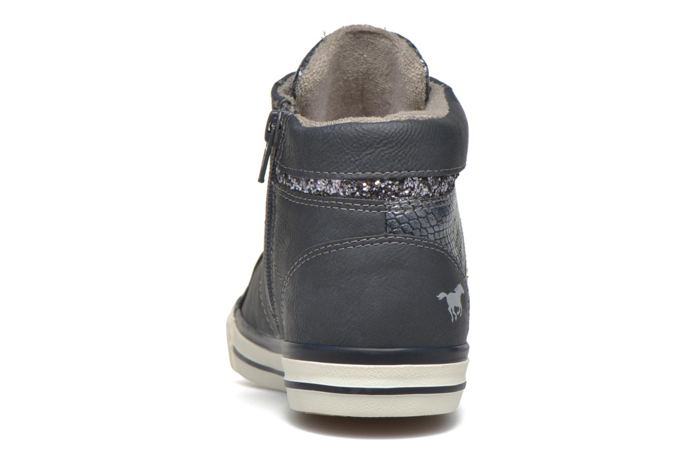 Sneaker Mustang shoes Leni blau ansicht von rechts