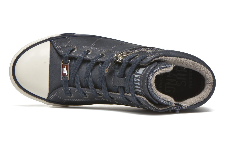 Baskets Mustang shoes Leni Bleu vue gauche